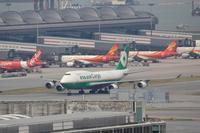 香港国際空港観景山から撮ったR/W07R離陸機⑮ - 飛行機&鉄道写真館