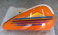 あっ!ハーレーだっ!エボ分割タンクの凹み補修塗装とか。その2、出来上がりました。 - DRESS OUT  White Blog
