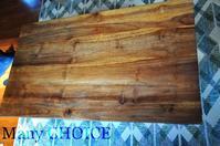 チーク無垢材のローテーブル・修復と蜜蝋・味わいを増していくもの達 - 時を刻む革小物 Many CHOICE~ 使い手と共に生きるタンニン鞣しの革