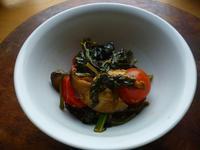 ほうれん草、プチトマトとキノコのソテー - LEAFLabo