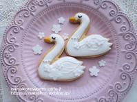 白鳥のアイシングクッキー - nanako*sweets-cafe♪