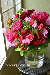 退職祝いに贈る花束。 - 花色~あなたの好きなお花屋さんになりたい~