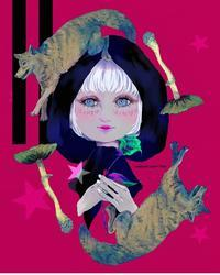 🐺オオカミ森の塗り絵コンテスト✨ - ヨウル☆プッキのへんチョコ日記