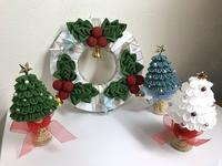 えりんこさんの「柊のリース、クリスマスツリー」 - つまみ細工鶫屋(つぐみや)つれづれなるまま日記