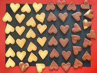 ハートのチョコサンドクッキー♪ - This is delicious !!