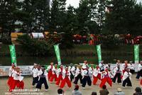 草加ふささら祭り2018・・綾瀬川南側で‥そうか連の舞NO6 - 自然のキャンバス