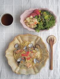 パスタで朝ごはん - 陶器通販・益子焼 雑貨手作り陶器のサイトショップ 木のねのブログ
