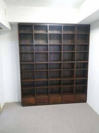 クルミ材総無垢材書棚納品 - 一枚板テーブル、無垢材家具 原木家具の祭り屋