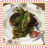 鶏むね肉の甘辛ねぎ照焼き(レシピ付) - kajuの■今日のお料理・簡単レシピ■