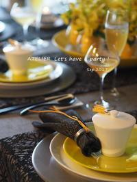 チャイニーズテイストのお月見~「9月のテーブルコーディネート&おもてなし料理レッスン」より - ATELIER Let's have a party ! (アトリエレッツハブアパーティー)         テーブルコーディネート&おもてなし料理教室