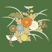 Plant Pattern Autoumn - Kiki (Chrysanthemum)  菊 - トロントに住む後期高齢者のひとり言