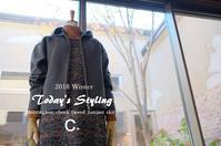 """Today's Styling~C+ Herringbon check tweed jumper skirt。。。...11/15thu"" - SHOP ◆ The Spiralという館~カフェとインポート雑貨のある次世代型セレクトショップ~"
