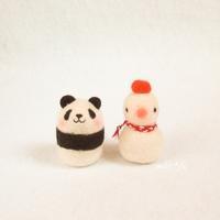 パンダと雪だるま(時々鏡餅) - miz-fc