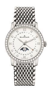 ブランパンヴィルレ ウーマン デイト ムーンフェイズSS/ブレス - ブランド腕時計ガイド