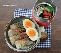 ルーローハン丼弁当 - 男子高校生のお弁当