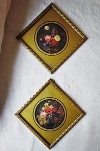 木製金彩額828,829 - スペイン・バルセロナ・アンティーク gyu's shop