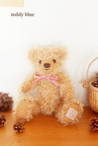 first teddy for baby girl S  ファーストテディ - teddy blue