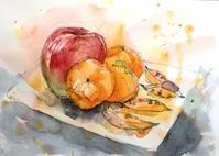 りんごと柿 - ryuuの手習い