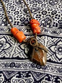 【マクラメ&ヘンプ】#200モロッコ産矢じりのネックレス - Shop Gramali Rabiya (SGR)