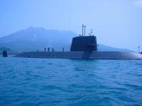 潜水艦@錦江湾(鹿児島)。 - 青い海と空を追いかけて。