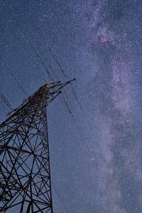 鉄塔と天の川 - 四季星彩