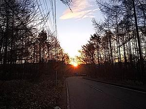 晩秋の夜明け -
