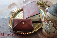 イタリアンレザー・プエブロ・2つ折りコインキャッチャー財布とブックカバー・時を刻む革小物 - 時を刻む革小物 Many CHOICE~ 使い手と共に生きるタンニン鞣しの革