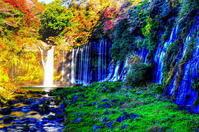 白糸の滝 - 風の香に誘われて 風景のふぉと缶