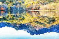 戸隠高原 鏡池の紅葉 1 - 光 塗人 の デジタル フォト グラフィック アート (DIGITAL PHOTOGRAPHIC ARTWORKS)