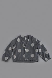 pritNo Color Short Jacket (Grey × Beige) - un.regard.moderne