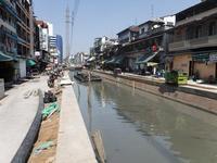 バンコクインド人街の運河と、チャオプラヤー・エキスプレスCanal at Pahurat Market and Chaophraya Express, Bangkok - 英国運河をナローボートで旅するには?