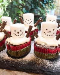 スノーマンカップケーキ - 調布の小さな手作りお菓子教室 アトリエタルトタタン