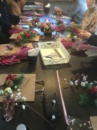 正月飾り出張レッスン - coco diary 山口県 お花と絵と楽しいティータイム