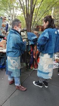 大江戸骨董市11月2 - 古布や麻の葉