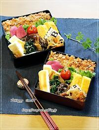 鮭フレークのっけ弁当とパン焼き・バゲットとクッペ♪ - ☆Happy time☆