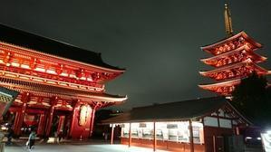 浅草寺 夜のウォーキング - 大竹智巳 ハープブログ