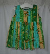 385.ミドリオレンジのワンピース - フリルの子供服
