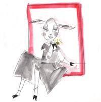 黒いコートの雌 - あけび Handmade