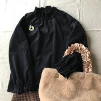 細コールのスタンドフリルブラウス - Flora 大人服とナチュラル雑貨