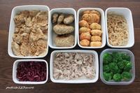 今週の作り置きと生姜焼き弁当 - 男子高校生のお弁当