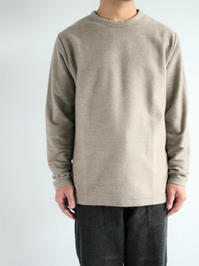 niuhansCotton Cashmere Brushed Sweat Shirt / Brown - 『Bumpkins putting on airs』