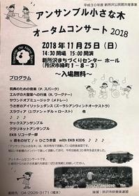 「オータムコンサート2018」(所沢市)のご案内 - はんのうきときとひろば