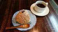 食堂山小屋のビーガンモンブラン, Vegan chestnuts cake of the cafeteria Shokudo-Yamagoya. - latina diary blog