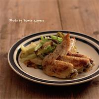 鶏手羽とキャベツのアンチョビソテー - ふみえ食堂  - a table to be full of happiness -