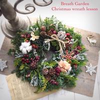 出張フレッシュクリスマスリース - 花雑貨店 Breath Garden *kiko's  diary*