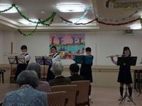 母の施設に隣の中学から吹奏楽部がボランティアに来ました - わたしの好きな物