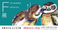 古澤めぐみふくろう展開催 2018/12/4〜12/9 - 絵画教室アトリエTODAY