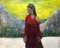 シバの女王(100号油絵) - 夏目明美作品集*油絵・水彩画