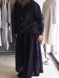SALUÉ(fig-1)/長袖バンドカラーシャツ&スーパーワイドタックパンツ - UTOKU Backyard