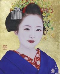 日本画3号F   モデル宮川町ふく珠ちゃん - 黒川雅子のデッサン  BLOG版